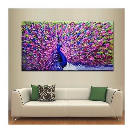 فروش تابلو نقاشی رنگ روغن طاووس