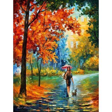 فروش تابلو رنگ روغن راه پاییزی