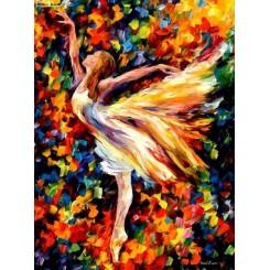 فروش تابلو نقاشی رنگ روغن رقص باله2