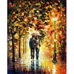 فروش تابلو نقاشی رنگ روغن پاییز عاشقانه
