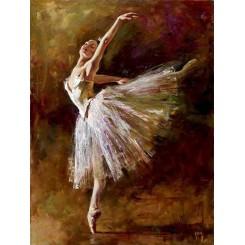 تابلو نقاشی رنگ روغن رقص باله