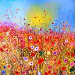 فروش تابلو نقاشی رنگ روغن گل افشان