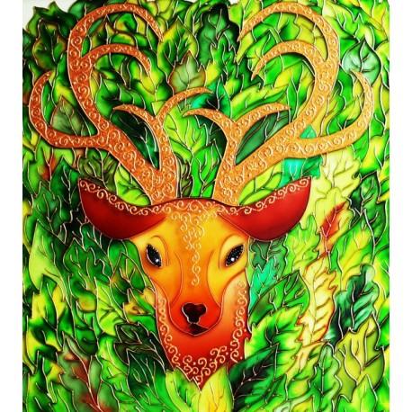 فروش تابلو نقاشی روی شیشه طرح گوزن