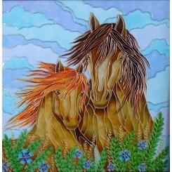 فروش تابلو نقاشی روی شیشه (ویترای) اسب